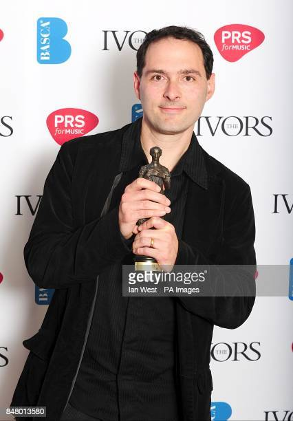 Alex Heffes with the award for Best Original Film Score received for The First Grader at the 2012 Ivor Novello awards held at the Grosvenor House...