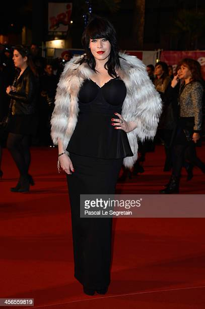 Alex Hepburn attends the 15th NRJ Music Awards at Palais des Festivals on December 14 2013 in Cannes France