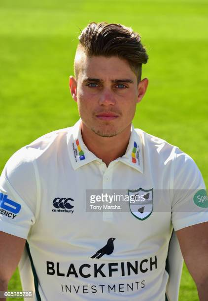 Alex Hepburn of Worcestershire County Cricket Club poses in the Specsavers County Championship kit during the Worcestershire County Cricket photocall...