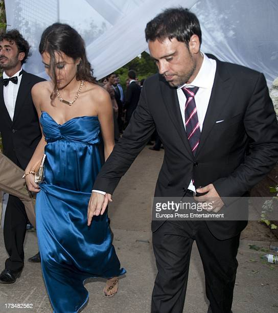 Alex Hernandez attends the wedding of the Barcelona football player Xavi Hernandez and Nuria Cunillera at Marimurtra Botanical Gardens on July 13...