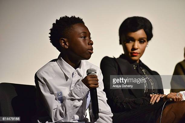 Alex Hibbert attends the Film Independent at LACMA screening and QA of Moonlight at LACMA on October 13 2016 in Los Angeles California