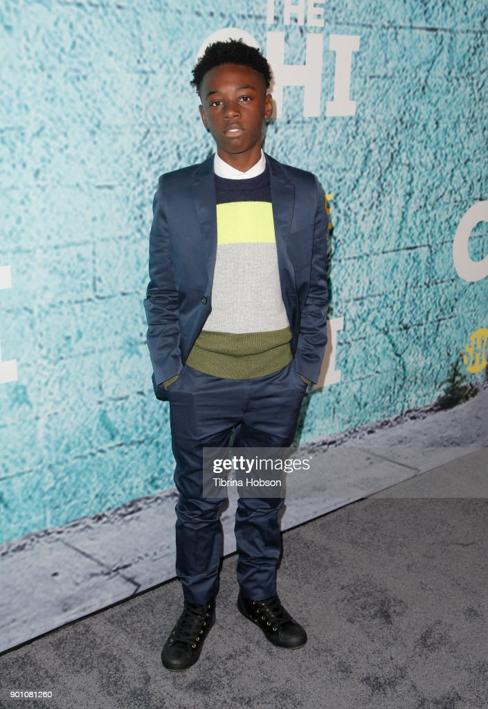 Alex Hibbert attends the premiere of Showtime's 'The Chi' at Downtown Independent on January 3, 2018 in Los Angeles, California.
