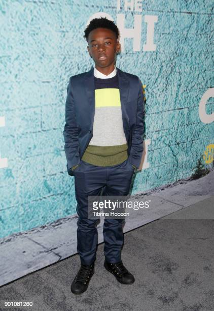 Alex Hibbert attends the premiere of Showtime's 'The Chi' at Downtown Independent on January 3 2018 in Los Angeles California