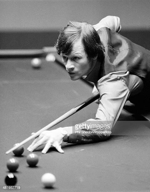 Alex Higgins of Great Britain in action during the World Snooker Championship held at The Crucible Theatre Sheffield 15th May 1982 Alex Higgins won...
