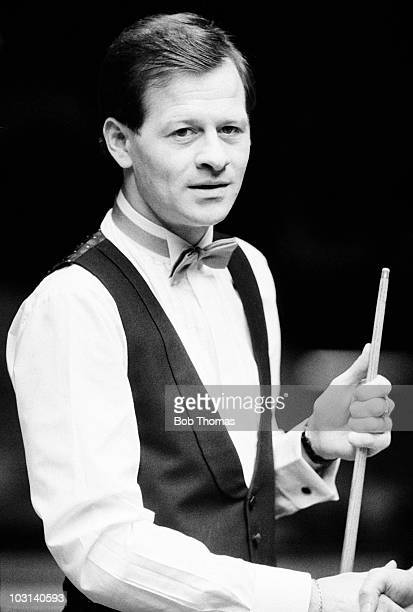 Alex Higgins of Northern Ireland during the Benson Hedges Masters snooker tournament held at Wembley Arena London on 25th January 1987