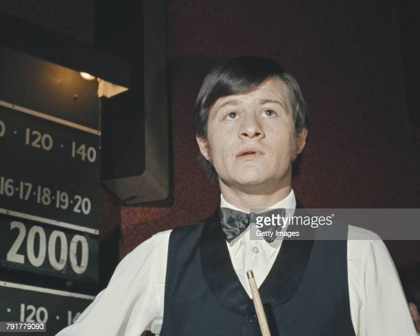 Alex Higgins of Northern Ireland during the World Snooker Championship 26 February 1972 in Birmingham United Kingdom