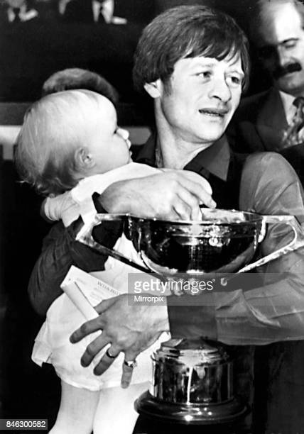 Alex Higgins snooker player after winning the World Snooker Championship 1982