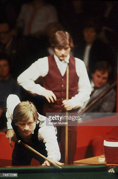 Alex Higgins takes a shot during the 1983 World Snooker Championships in Sheffield