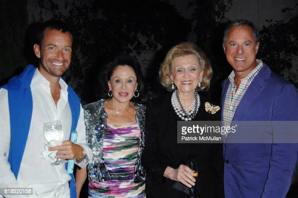 Alex Hitz Nikki Haskell Barbara Davis and Brad Kelley attend Alex Hitz' Summer Dinner Party at a Private Residence on August 18th 2010 in Hollywood...