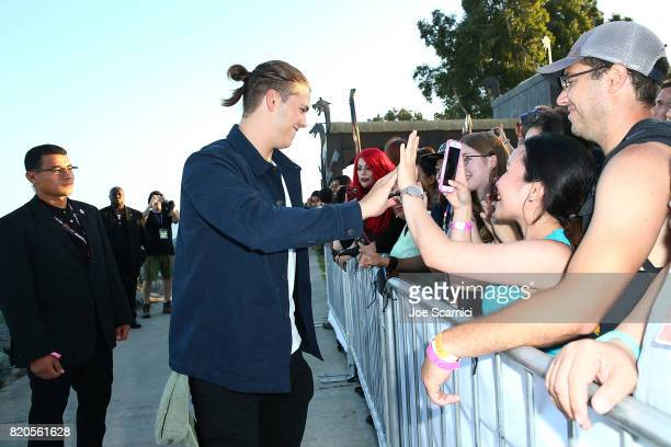 Alex Hogh Andersen of HISTORY'S 'Vikings' attends the Viking Funeral Ceremony at San Diego Comic Con 2017 on July 21 2017 in San Diego California