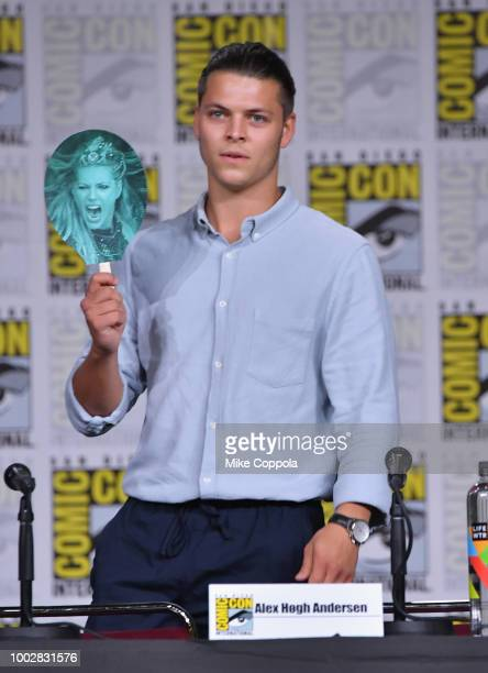 Alex Hogh Andersen speaks onstage at History's 'Vikings' panel during ComicCon International 2018 at San Diego Convention Center on July 20 2018 in...