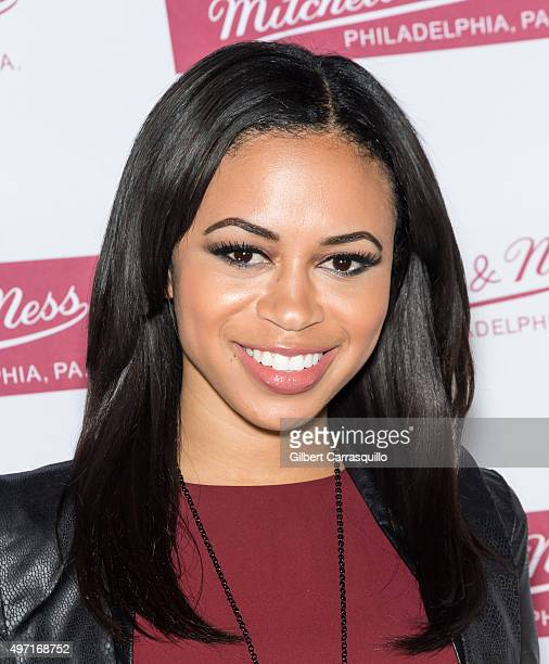 Alex Holley Fox 29 Good Day Philadelphia CoHost attends Mitchell Ness Flagship Store 5th Anniversary at Mitchell Ness Flagship Store on November 12...