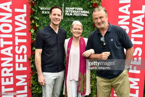 """Alex Holmes, Tracy Edwards and Alec Baldwin attend the Hamptons International Film Festival Presents A SummerDocs Screening Of """"Maiden"""" at Guild Hall..."""