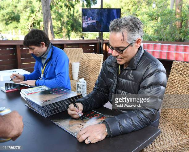 Alex Honnold and Marco Beltrami attend National Geographics Contenders Showcase at The Greek Theatre a oneofakind outdoor experience and concert...
