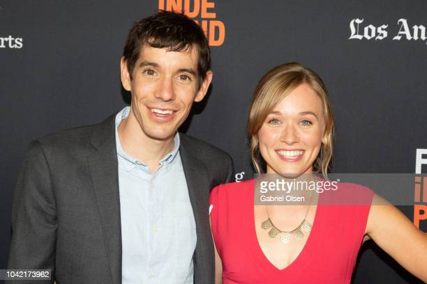 Alex Honnold and Sanni McCandless arrive for the LA Film Festival gala screening of National Geographic Documentary Films 'Free Solo' at at Wallis...