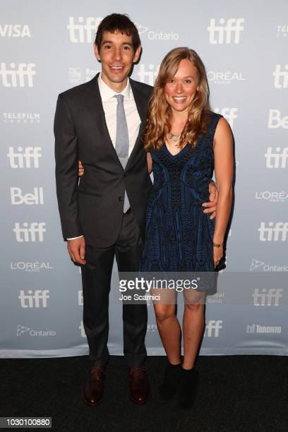 "Alex Honnold and Sanni McCandless at the 2018 Toronto Film Festival Premiere of National Geographic Documentary Films' ""Free Solo"""