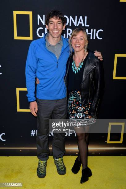Alex Honnold and Sanni McCandless attend National Geographic's Contenders Showcase at The Greek Theatre on June 02 2019 in Los Angeles California