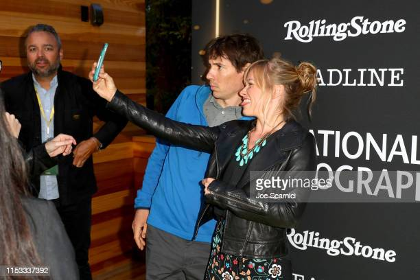 Alex Honnold and Sanni McCandless attend National Geographic's Contenders Showcase at The Greek Theatre a oneofakind outdoor experience and concert...