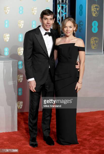 Alex Honnold and Sanni McCandless attend the EE British Academy Film Awards at Royal Albert Hall on February 10 2019 in London England