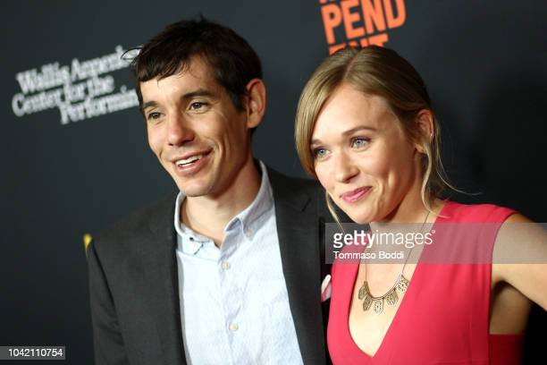 Alex Honnold and Sanni McCandless attend the LA Film Festival gala screening of National Geographic Documentary Films 'Free Solo' at the Wallis...
