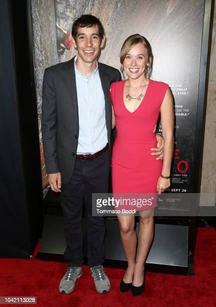 Alex Honnold and Sanni McCandless attend the LA Film Festival gala screening of National Geographic Documentary Films Free Solo at the Wallis...
