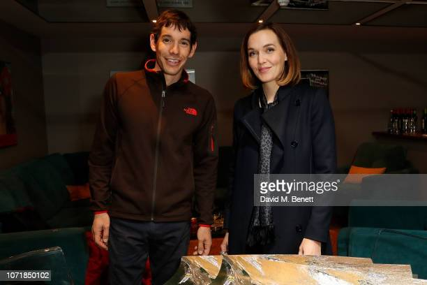 Alex Honnold and Victoria Pendleton attend the National Geographic Documentary Films London Premiere of Free Solo Party at BFI Southbank on December...