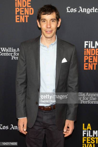 Alex Honnold arrives for the LA Film Festival gala screening of National Geographic Documentary Films 'Free Solo' at at Wallis Annenberg Center for...