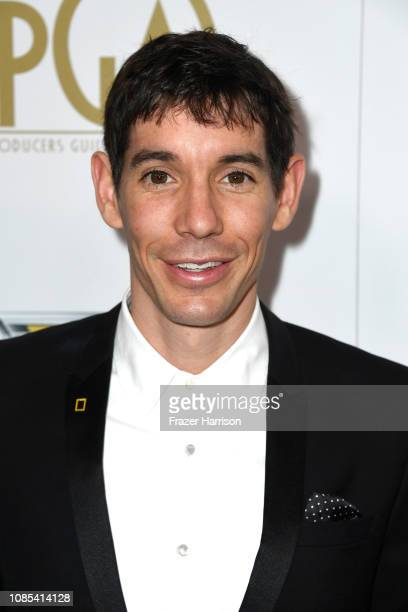 Alex Honnold attends the 30th annual Producers Guild Awards at The Beverly Hilton Hotel on January 19 2019 in Beverly Hills California