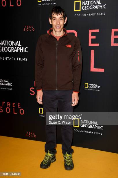 Alex Honnold attends the National Geographic's gala screening of Free Solo at BFI Southbank on December 11 2018 in London England