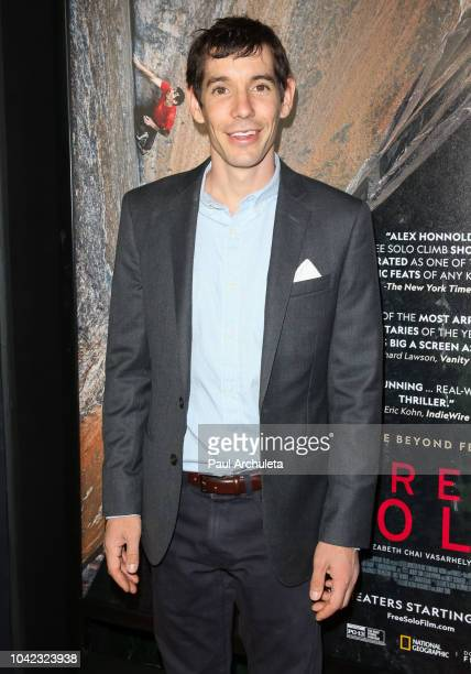 Alex Honnold attends the screening of Free Solo at the 2018 LA Film Festival at the Wallis Annenberg Center for the Performing Arts on September 27...