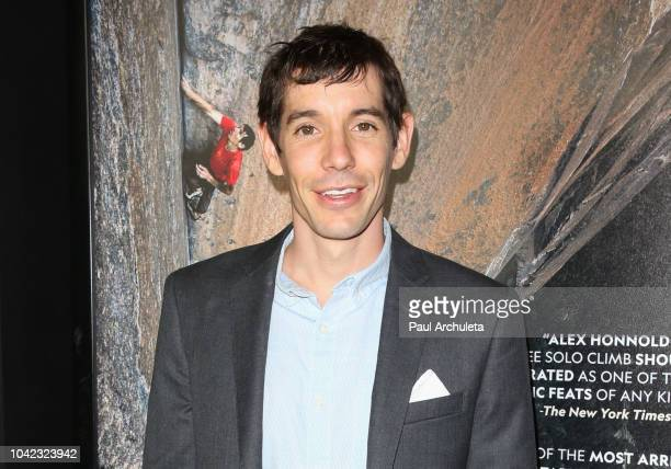 Alex Honnold attends the screening of 'Free Solo' at the 2018 LA Film Festival at the Wallis Annenberg Center for the Performing Arts on September 27...