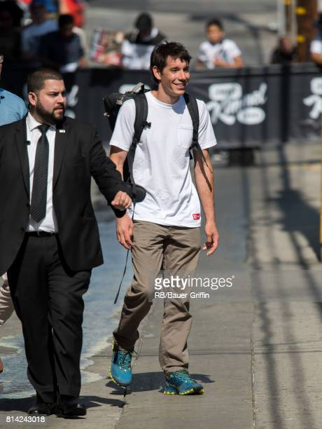 Alex Honnold is seen at 'Jimmy Kimmel Live' on July 13 2017 in Los Angeles California