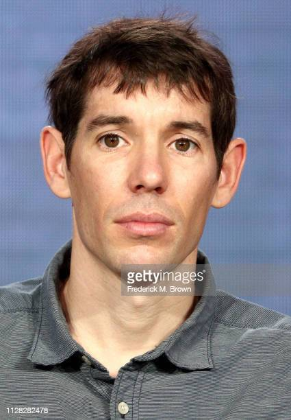 Alex Honnold of the film Free Solo speaks during the National Geographic segment of the 2019 Winter Television Critics Association Press Tour at The...