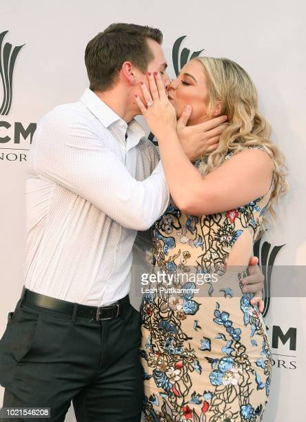 Alex Hopkins and fiancee Lauren Alaina attend the 12th Annual ACM Honors at Ryman Auditorium on August 22 2018 in Nashville Tennessee