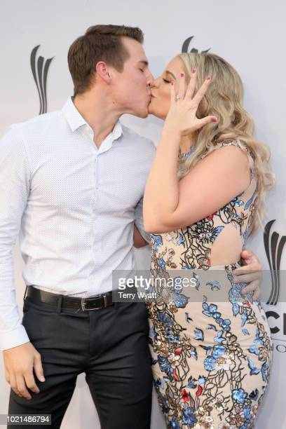 Alex Hopkins and Lauren Alaina attend the 12th Annual ACM Honors at Ryman Auditorium on August 22 2018 in Nashville Tennessee