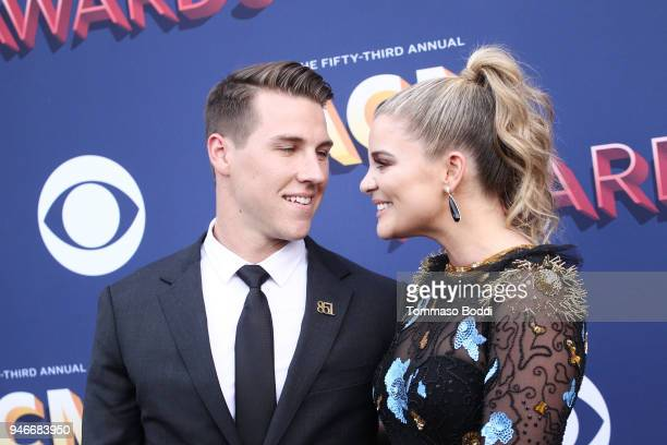 Alex Hopkins and Lauren Alaina attend the 53rd Academy of Country Music Awards at MGM Grand Garden Arena on April 15 2018 in Las Vegas Nevada