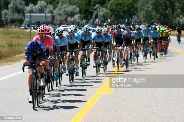 Alex Howes of The United States and Team EF Education First / James Whelan of Australia and Team EF Education First / Lachlan Morton of Australia and...