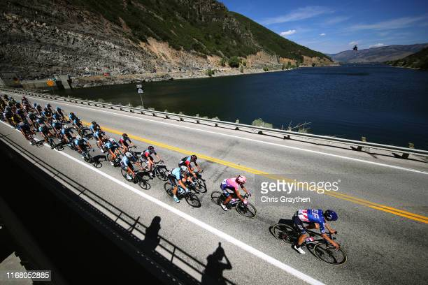 Alex Howes of The United States and Team EF Education First / Lachlan Morton of Australia and Team EF Education First / George Simpson of The United...