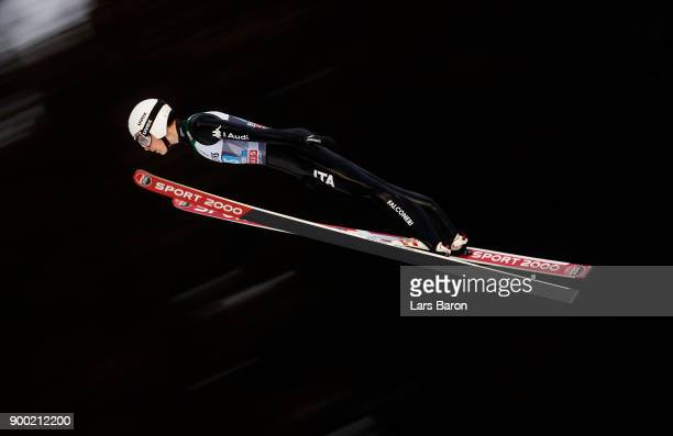 Alex Insam of Italy competes on day 2 of the FIS Nordic World Cup Four Hills Tournament ski jumping event on December 29 2017 in Oberstdorf Germany