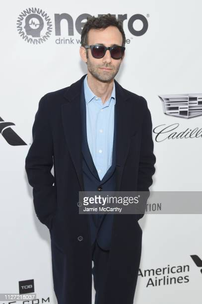 Alex Israel attends the 27th annual Elton John AIDS Foundation Academy Awards Viewing Party sponsored by IMDb and Neuro Drinks celebrating EJAF and...