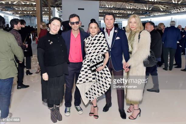 Alex Israel China Chow Lou Diamond Phillips and Yvonne Boismier Phillips attend Mr Chow 50 Years on February 16 2018 in Vernon California