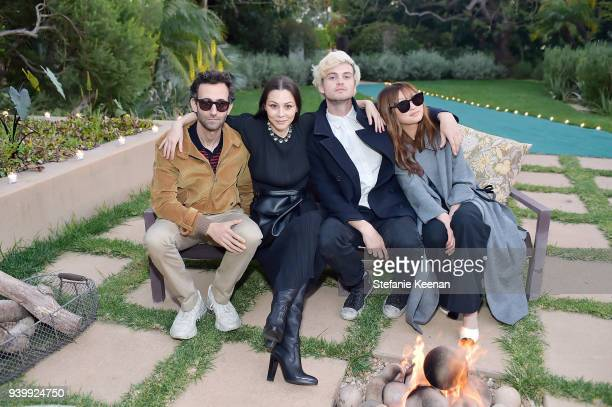 Alex Israel China Chow Wilhelm Wolfe and Priscilla Pae attend a private dinner to celebrate the One Year Anniversary of Beboe hosted by Lake Bell...