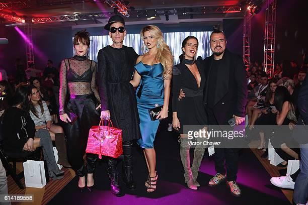 Alex Ivanisevic Edy Smol Maria Elena Torruco Claudia Alvarez and Jorge Mondragon attend the second day of MercedesBenz Fashion Week Mexico...