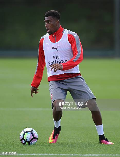 Alex Iwobi of Arsenal during a training session at London Colney on July 11 2016 in St Albans England