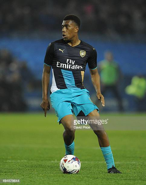 Alex Iwobi of Arsenal during the Capital One Cup 4th Round match between Sheffield Wednesday and Arsenal at Hillsborough Stadium on October 27 2015...