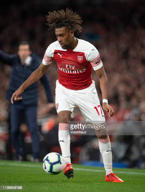 Alex Iwobi of Arsenal during the Premier League match between Arsenal FC and Newcastle United at Emirates Stadium on April 01 2019 in London United...