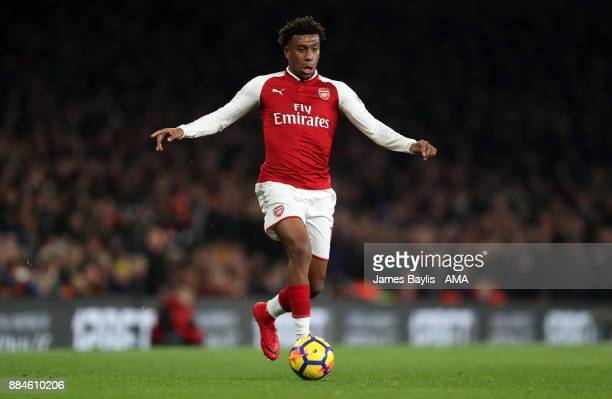 Alex Iwobi of Arsenal during the Premier League match between Arsenal and Manchester United at Emirates Stadium on December 2 2017 in London England