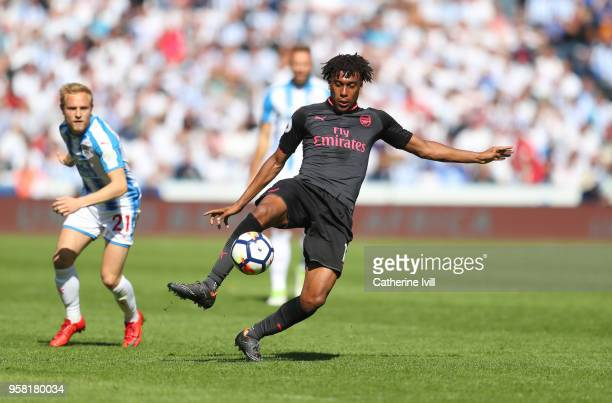 Alex Iwobi of Arsenal during the Premier League match between Huddersfield Town and Arsenal at John Smith's Stadium on May 13 2018 in Huddersfield...