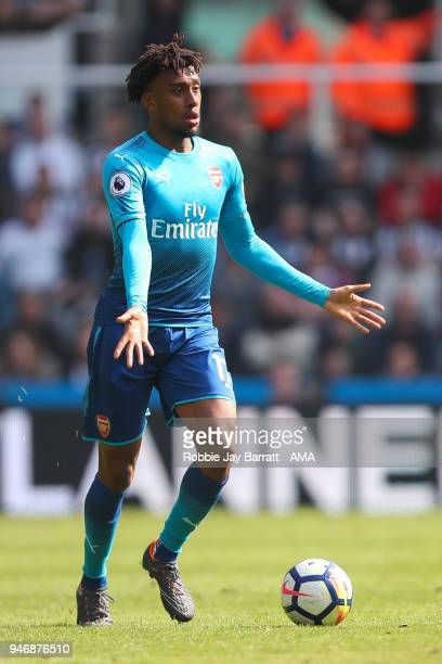 Alex Iwobi of Arsenal during the Premier League match between Newcastle United and Arsenal at St James Park on April 15 2018 in Newcastle upon Tyne...