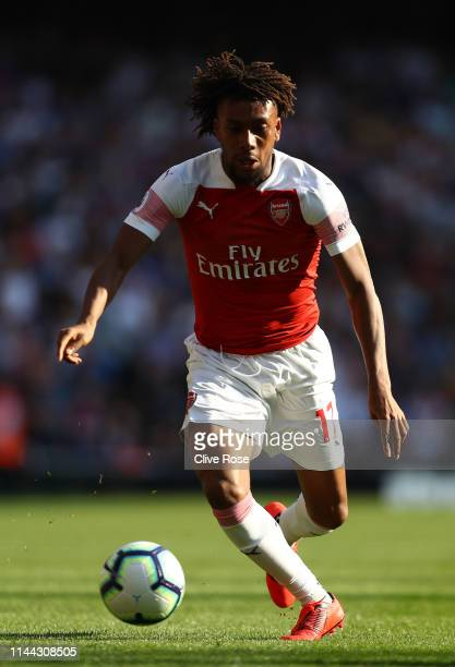 Alex Iwobi of Arsenal in action during the Premier League match between Arsenal FC and Crystal Palace at Emirates Stadium on April 21 2019 in London...